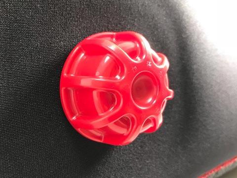 やわらか湯たんぽ(足用):赤いポッチ部分
