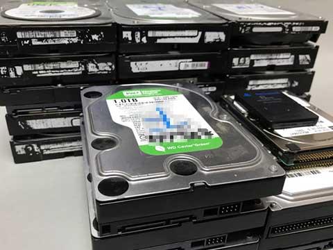 廃棄予定のHDD
