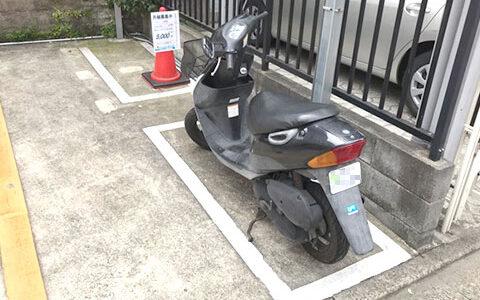 駐車場の様子:私の駐車位置